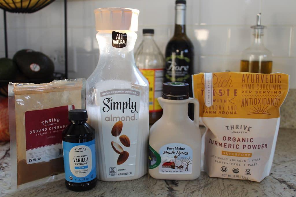 golden milk latte ingredients