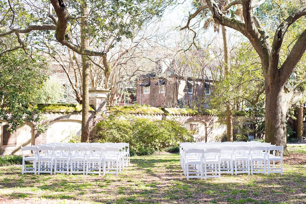 small wedding chairs set up