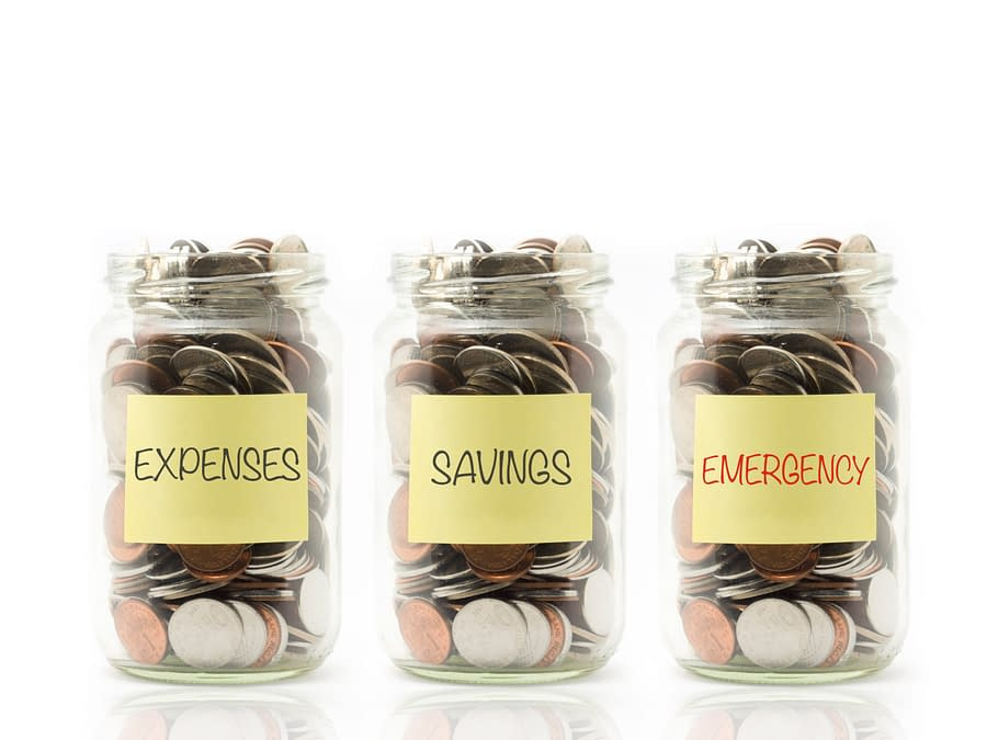Coins in Jars for Emergency