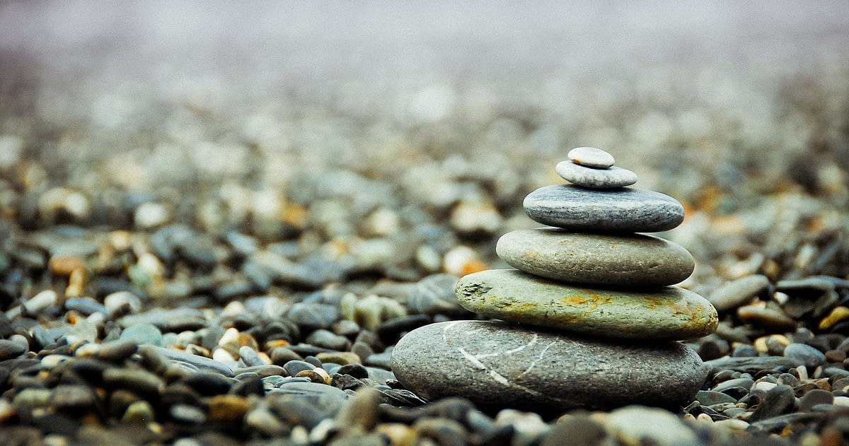 stacked stones meditation practice