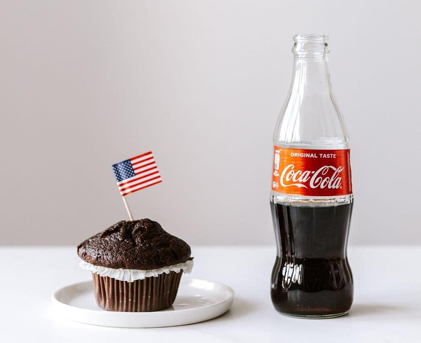 cupcake and coke