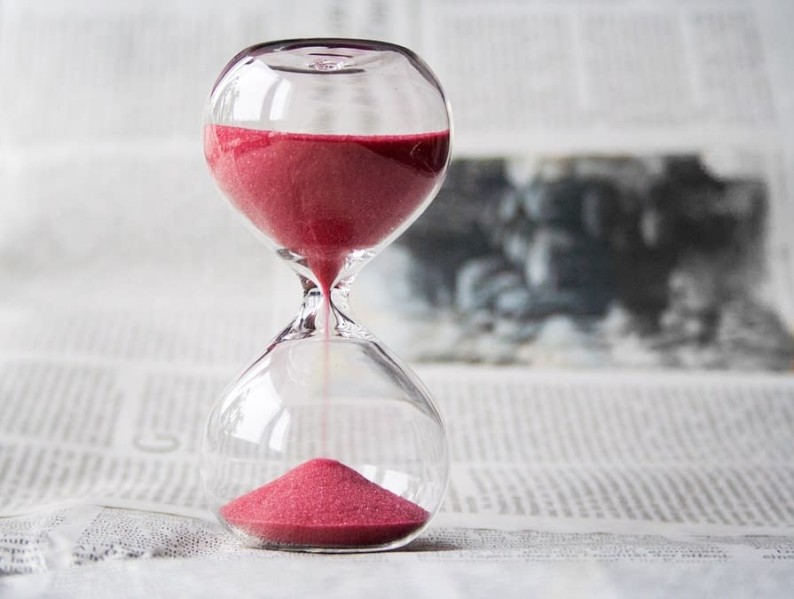 hourglass passing time